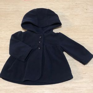 Dark blue coat with 3 buttons